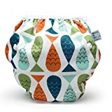 #3: Nageuret Reusable Swim Diaper, Adjustable & Stylish Fits Diapers Sizes N-5 (8-36lbs) Ultra Premium Quality For Eco-Friendly Baby Shower Gifts & Swimming Lessons (Fish- Red, Green, Blue)