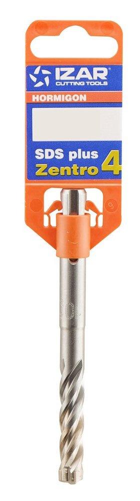 115 mm Longitud 1891 Izar 32043 Broca-Martillo SDS Plus Zentro 4+ 5.0 mm Di/ámetro Corte Hormig/ón Reforzado 50 mm Longitud Corte