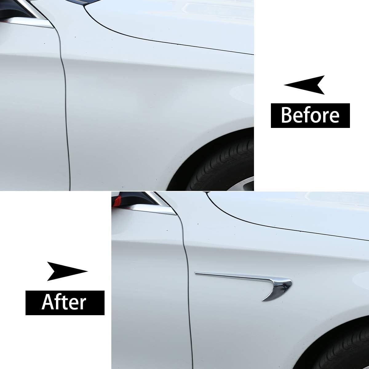 Carbon Fiber CHEYA 2pcs ABS Carbon Fiber Style Car Side Fender Trim Accessories for Mercedes Benz E Class W213 C-Class W205 Refit E63S AMG