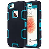 iPhone 5S Case, iPhone 5 Case,iPhone SE Case, ULAK KNOX ARMOR Heavy Duty Shockproof Sport Rugged Drop Resistant Dustproof Protective Case Cover for Apple iPhone 5 5S SE -Blue/Black