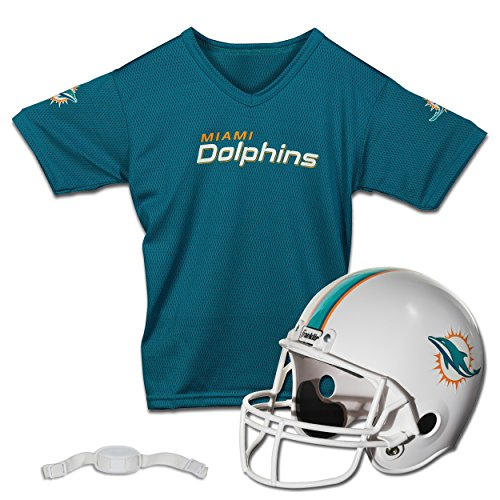 Franklin Sports NFL Miami Dolphins Replica Youth Helmet and Jersey Set -
