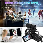 4K-Camcorder-Ultra-HD-Digital-Video-Camera-48MP-WiFi-Vlogging-Camera-for-Youtube-30-inch-Touch-Screen-18X-Digital-Zoom-Video-Camcorder-with-Microphone-Remote-Control-and-Lens-Hood