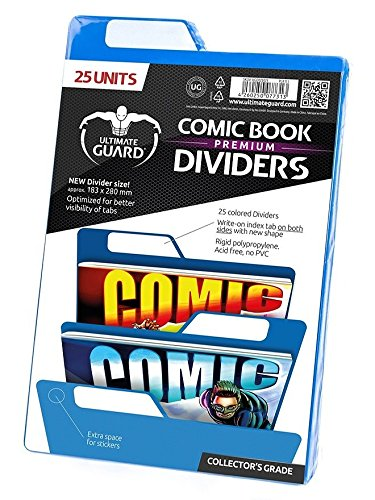 Premium Comic Dividers Card Sleeves (25 Piece), Blue