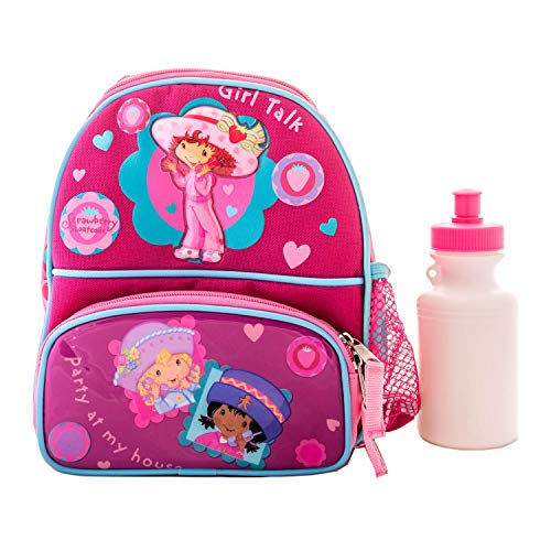 Strawberry Shortcake Kids Lunch Box Backpack Style Insulated Lunch Bag with Water Bottle 1 Girl Pink SB01227