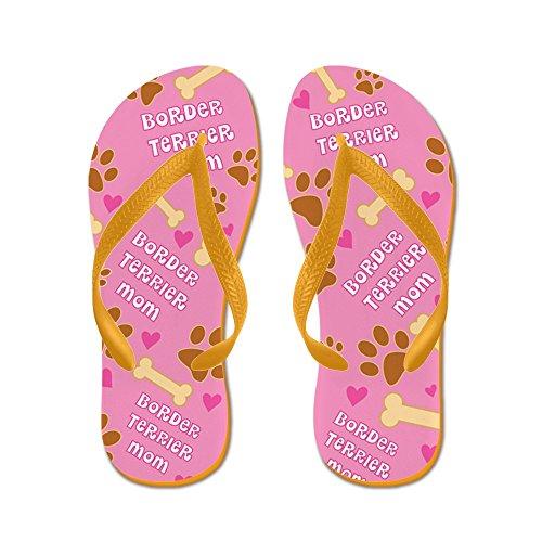 Cafepress Border Terrier Mom Cadeau Slippers - Flip Flops, Grappige String Sandalen, Strand Sandalen Oranje