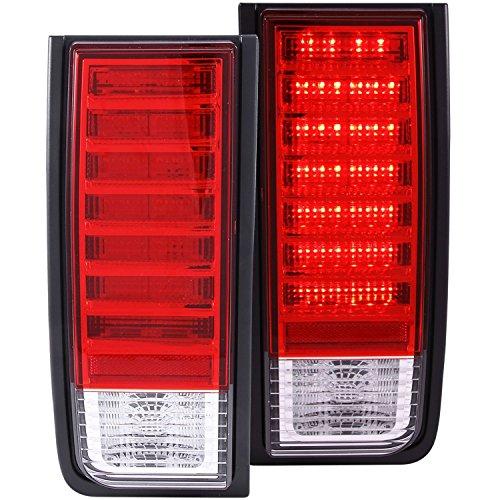 Hummer H2 Corner Lights - 2003-2009 HUMMER H2 SUV LED TAIL LIGHTS RED REAR BRAKE LAMPS+DRL LED RUNNING FOG