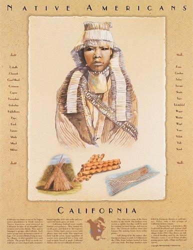 Native American Cultures- California - Poster (List Of Native American Tribes In California)