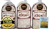 Amish Country Popcorn - 3 (1 lb. Bag Variety Gift Set) Purple Popcorn, Blue Popcorn and Red Popcorn - with Recipe Guide - Old Fashioned, Non GMO, and Gluten Free