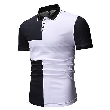 G&Armanis shop Camisa Polo de Solapa para Hombre, Polo a Rayas de ...