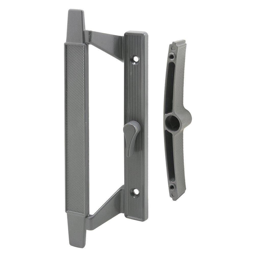 Slide-Co 144108 Sliding Door Handle Set, 5-1/8-Inch, Gray Aluminum
