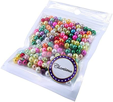 TOAOB 2100pcs 3mm Glass Pearl Beads Round Multi Colors Loose Beads for Handmade