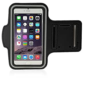 ECSEM iPhone 6 Armband Phone holder Sport/Gym Armband for iPhone 6 4.7 inch Waterproof Anti-Sweat (Black)