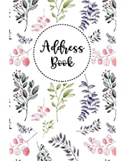Address Book: Contact Address Book Alphabetical Organizer with 12 Month Birthdays and Anniversaries Calendar Website Password Logins Keeper Logbook Journal 6x9 Inch Notebook