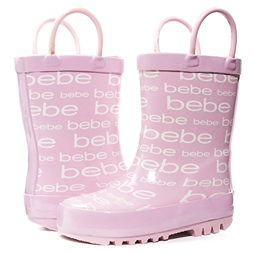 - bebe Toddler Girls Printed High Cut Puddle Proof Rain Boots Light Pink Size 5/6
