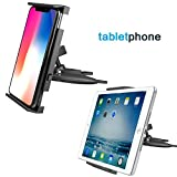 "Universal Tablet Car Mount, APPS2CAR Cd Slot Holder Stand for Ipad 2 3 4/Air 1 2/Mini 1 2 3 4, Samsung Tab S A 4 3, Kindle Fire 8"" 7"" 6"" HD Nokia N1, Sony LG Tablet, Sat Nav, GPS, iPhone 6S 6 5S 5,etc"