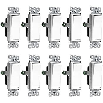 Leviton 5601 2w 15 amp 120277 volt decora rocker single pole ac enerlites light switch onoff paddle wall switch 91150 w 15 amp 120v277v ac single pole 3 wire grounding screw residential and commercial graded publicscrutiny Image collections