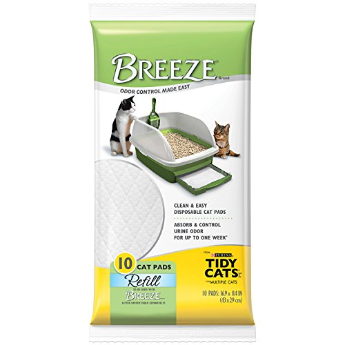 Tidy Cats Cat Litter, Breeze, Litter Pad Refill, Unscented, 10 Count Pouch, Pack of 6