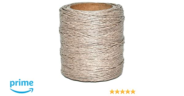210 feet Each Maine Thread Includes 2 spools. .040 Goldbrown Waxed Polycord