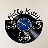 HELLO KITTY VINYL WALL CLOCK stuffed animals Handmade Vinyl Record Wall Clock - Get unique home room wall decor - Gift ideas for parents, teens gift for girls– PRIME CUTE Movie Unique Modern Art