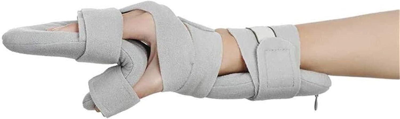 SJKZ Ortesis de Dedos Ajustables Multiusos para el espasmo de flexión de los Dedos o atrofia Soporte de Descanso Funcional Suave con ambas Manos Férula Separador ORTHOSIS 21-410 (Color : Right)