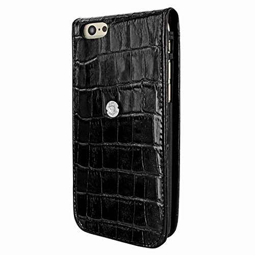 PIELFRAMA 689CO Magnetic Case Crocodile Apple iPhone 6 Plus in schwarz
