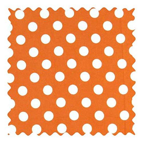 SheetWorld 100% Cotton Flannel Fabric by The Yard, Polka Dots Orange, 36 x 44 ()