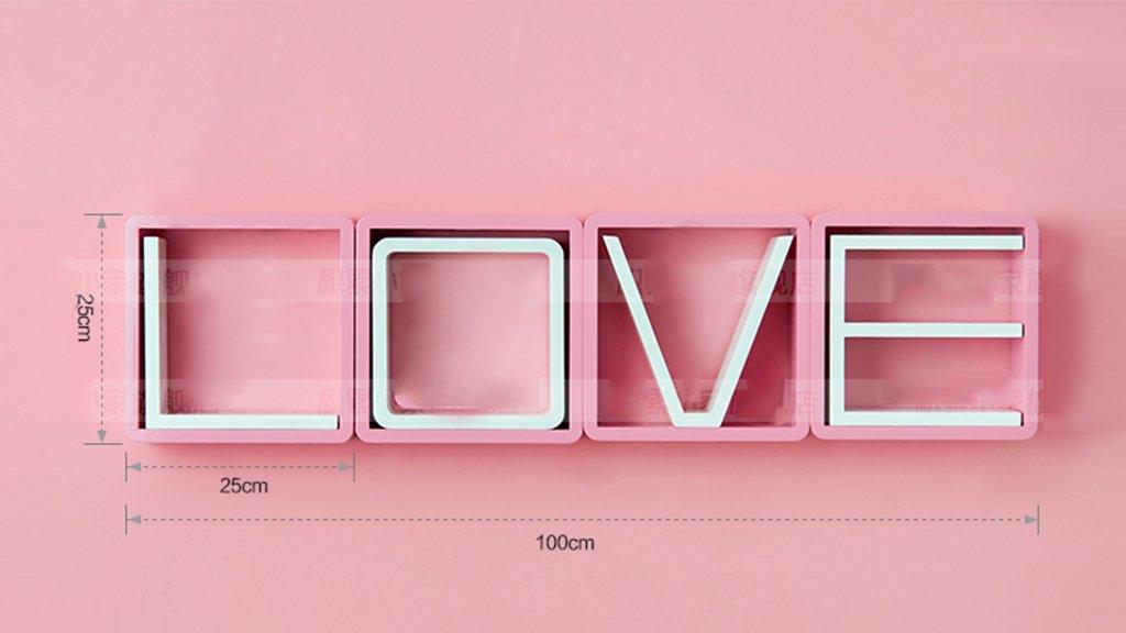 Wall Shelf LOVE Bedroom Floating Mount Shelf by AI XIN SHOP (Image #3)