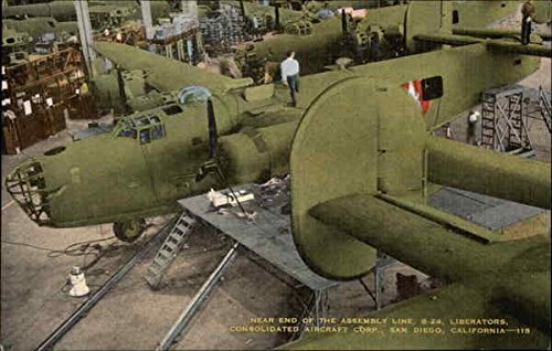 near-end-of-the-assembly-line-b-24-liberators-consolidated-aircraft-corporation-original-vintage-pos