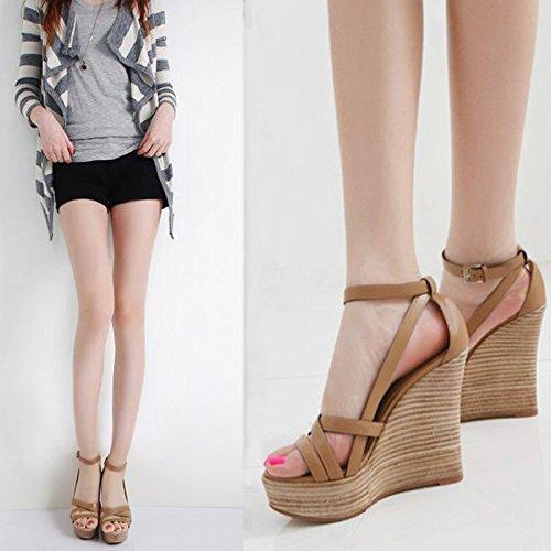 Correa Pendiente Taiwán EU34 Gruesas Sandalias SHOESHAOGE Zapatos con para De Impermeable De Zapatos Mujer Ranurados De Romana con Mujer Eu37 Alta ZdBqdT1