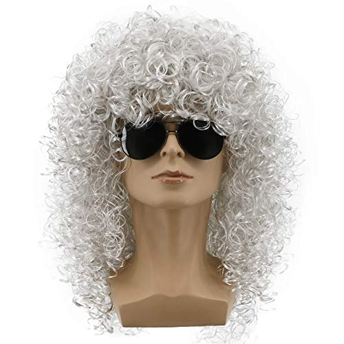 Yuehong 70s 80s Party Funky Disco Mens Hair Wigs Afro Wig Halloween Costume]()