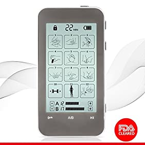 TENS Unit and EMS Combination Muscle Stimulator with 2 Channels, 12 Modes for Pain Management for Back, Neck, Arms, Legs, Abs, Arthritis and Sciatic Pain Relief and Rehabilitation