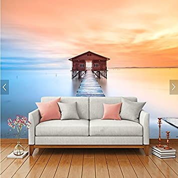 HUANGYAHUI Mediterrane Landschaft Nahtlose Wallpaper Modernen  Minimalistischen Schlafzimmer Wohnzimmer Tv Kulisse Wasserdicht Tapete  Grüne Tapeten