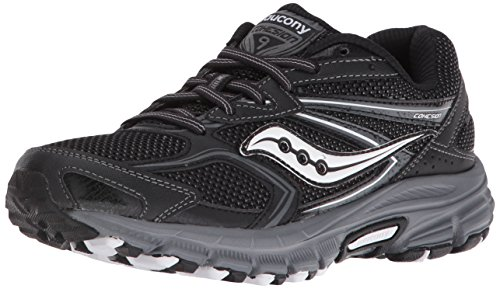 Saucony Women's Cohesion TR Plush Running Shoe, Black/Grey, 12 B US