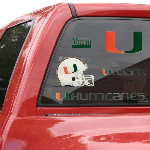 - WinCraft NCAA University of Miami Multi Use Decal, 11 x 17, Black