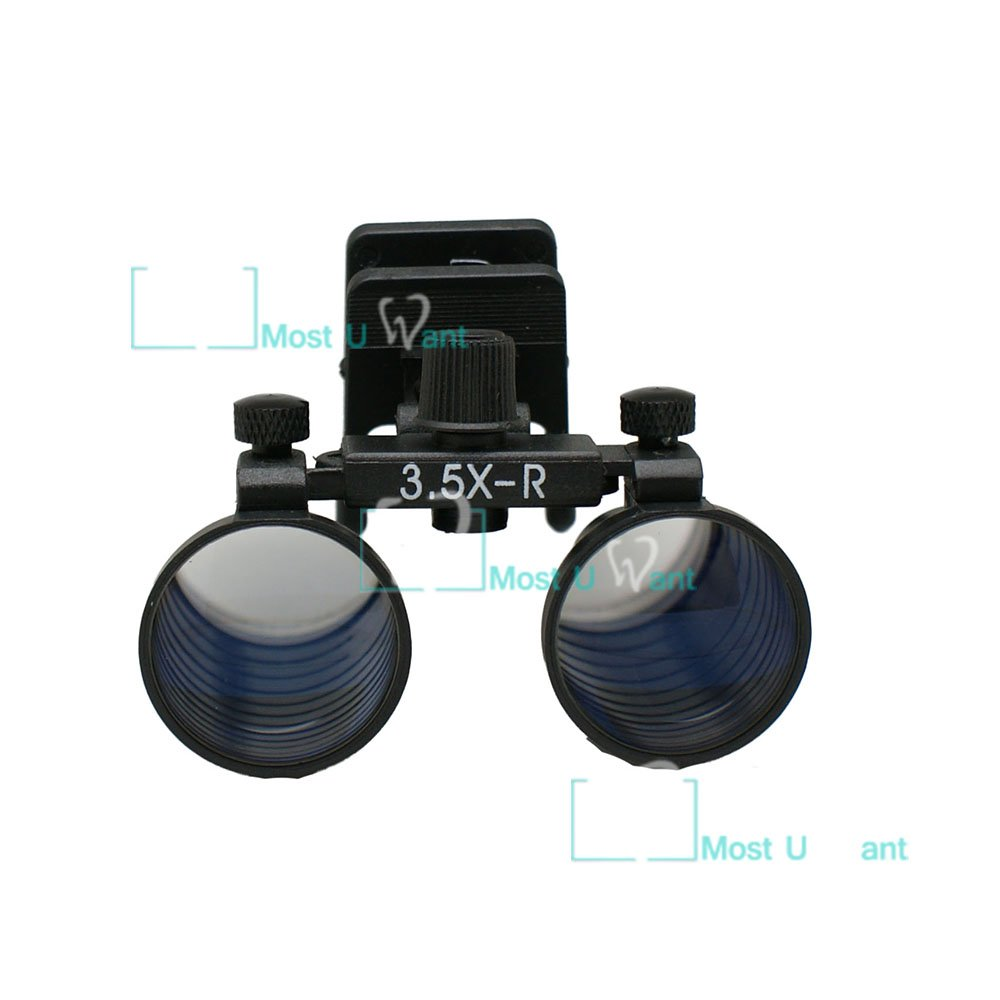 Dental Lab Surgical Medical Binocular Eye Loupe Glass 3.5x Amplification Magnifier Clip-Type Glass MUW