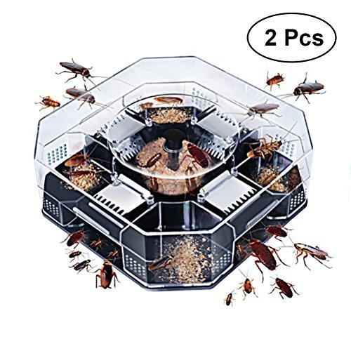 BESTONZON Cucaracha Trampa Control de Cucarachas en Interiores 2 Piezas