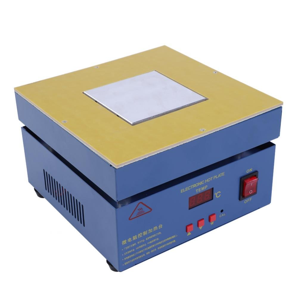 Akozon 100x100mm LED Microcomputer Electric Heating Plate Preheating Station 110/220V, Hot Plate PCB Preheater Preheating Oven AC 800W Soldering Station Welder(110V US Plug)