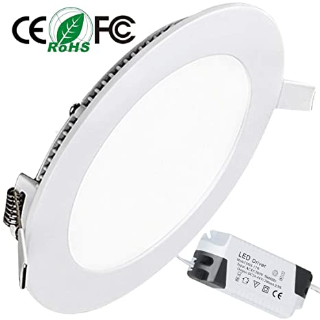 Placa LED Circular Super Slim Downlight LED Energía Empotrable Placa Techo 12W 3000k Blanco Cálido 220V XYD®