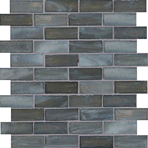 Tile Oceano - Oceano Brick 1x3 Brick Glass Mosaic, 10 SFT/case, (10 Pcs)
