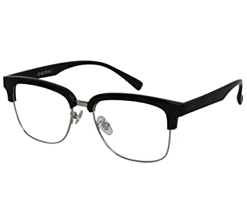 22ca7b7190 Image Unavailable. Image not available for. Color  EyeBuyExpress Bifocal  Reading Glasses Mens Womens Retro Style Horned Rim ...
