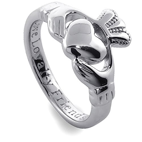 Claddagh Ring Ladies Sterling Silver SL92. Made in Ireland. (7.5) Irish Made Claddagh Ring
