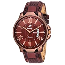 Espoir Analogue Brown Dial Day and Date Men's B
