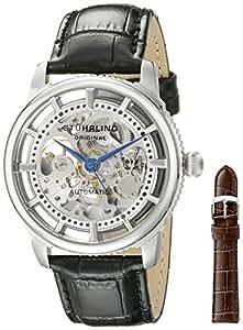 Stuhrling Original Men's 393.33152Set Classic Winchester Automatic Black Leather Strap Watch