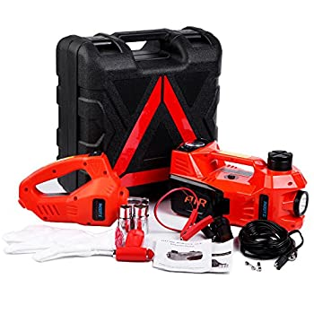 Image of Floor Jacks Electric Hydraulic Jack Set 12v by ROGTZ All-in-one Automatic 3 Ton car Lift Jack Set with Impact Wrench Car Repair Tool Kit