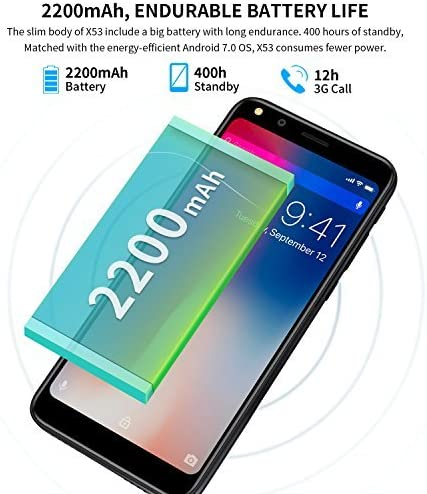 Moviles Libres, DOOGEE X53 3G Android 7.0 Smartphone Libre, 5.3 ...