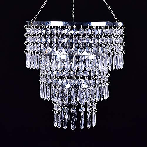 Octagon Jewels (FlavorThings 3 Tiers Fuax Crystal Acrylic Beaded Chandelier,Diam10.5