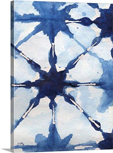 Medley Wall Hanging (Elizabeth Medley Premium Thick-Wrap Canvas Wall Art Print entitled Shibori II 30