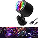 HenLight RGB Rotating Magic Ball Stage Lights Color Change Strobe Lamp Disco Ball for Party Home Car LED Stage Effect Light with USB Port, 6 Lights