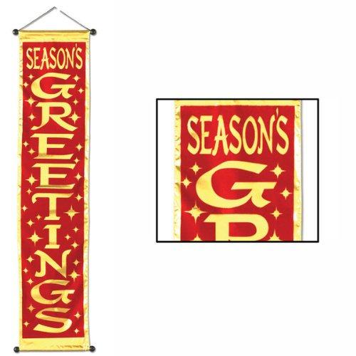(Season's Greetings Velvet-Lamé Holiday Panel 12in. x 54in. Pkg/1 )