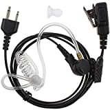 Tenq Advanced Nipple Covert Acoustic Tube Bodyguard FBI Earpiece Headset Mic for 2-pin Icom Maxon Yaesu Vertex Radio